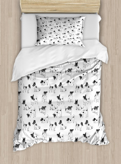 Sketch Style Terriers Duvet Cover Set