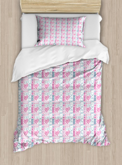 Love You Calligraphy Duvet Cover Set