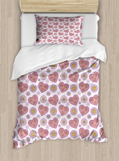 Hearts with Paisleys Duvet Cover Set