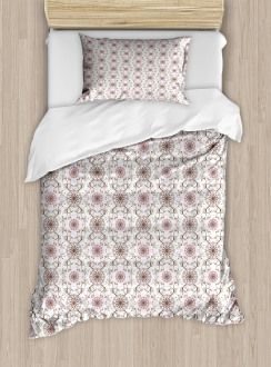 Pastel Flowers Hearts Duvet Cover Set