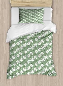 Lilly Bouquet Design Duvet Cover Set