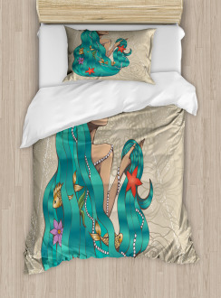 Lady Pearl Fish Duvet Cover Set