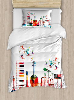 Colorful Instruments Duvet Cover Set