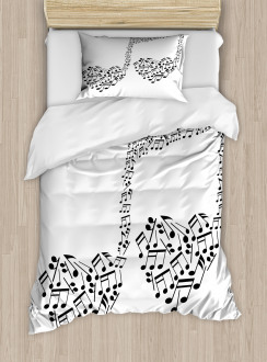 Musical Note Love Art Duvet Cover Set