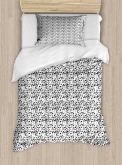 Sketchy Notes Symbols Duvet Cover Set