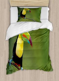 Keel Billed Toucan Duvet Cover Set