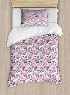 Swallowtails and Roses Duvet Cover Set