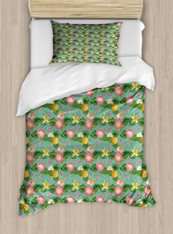 Vivid Color Hibiscus Duvet Cover Set