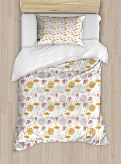 Spring Themed Foliage Duvet Cover Set
