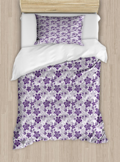 Stylized Petals Curves Duvet Cover Set