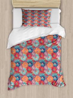 Overlapped Flower Petals Duvet Cover Set