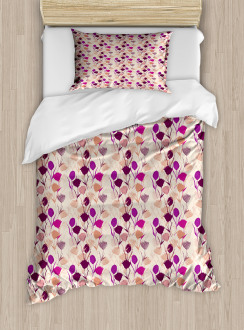 Carnations and Tulips Duvet Cover Set