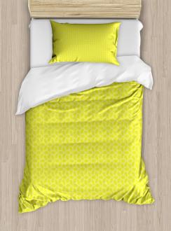 Abstract Juicy Lemons Duvet Cover Set
