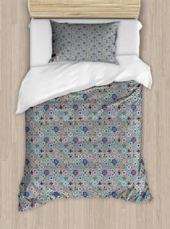 Patchwork Mosaic Tiles Duvet Cover Set