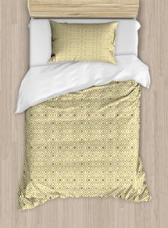 Rhombus-Like Pattern Duvet Cover Set