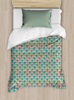 Asian Mosaic Curves Duvet Cover Set