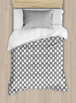 Curved Lines Mosaic Duvet Cover Set