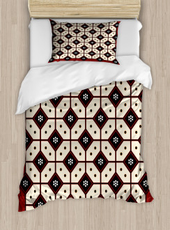 Javanese Batik Pattern Duvet Cover Set