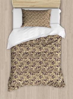 Arabic Traditional Floral Duvet Cover Set