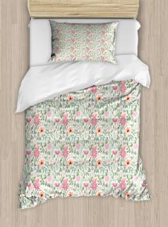 Wildflower Botanic Theme Duvet Cover Set