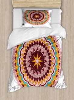 Ethnic Floral Motif Duvet Cover Set