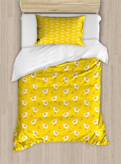 Dots Chicken Haystack Duvet Cover Set