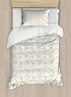 Abstract Lobed Leaves Duvet Cover Set