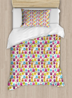Winking Long-Eared Owl Duvet Cover Set