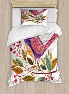 Scarlet Firethorn Flower Duvet Cover Set
