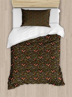 Mistletoe Pine Branch Duvet Cover Set