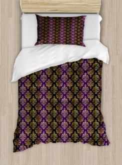 Oriental Leaf Dot Duvet Cover Set