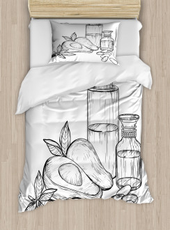 Natural Tropical Fruit Duvet Cover Set