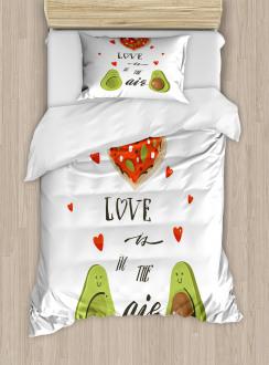 Valentine Fruit Couple Duvet Cover Set