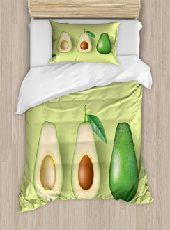 Realistic Half Avocado Duvet Cover Set
