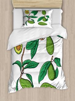 Exotic Fruits on Branch Duvet Cover Set
