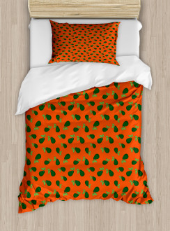 Comic Style Avocados Duvet Cover Set