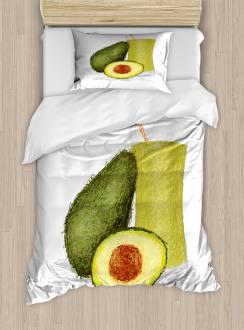 Fresh Avocado Smoothie Duvet Cover Set