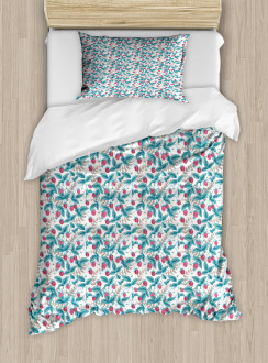 Spring Season Raspberries Duvet Cover Set