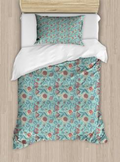 Woodland Floral Design Duvet Cover Set
