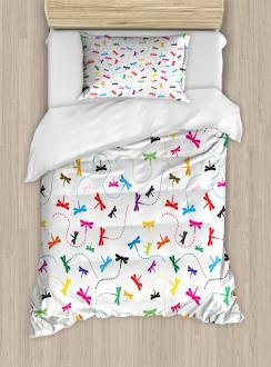 Spring Wildlife Motif Duvet Cover Set