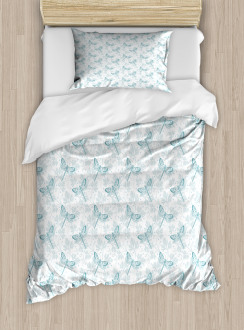 Parsley Leaves Bugs Duvet Cover Set