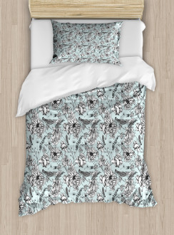 Bugs and Daises Duvet Cover Set