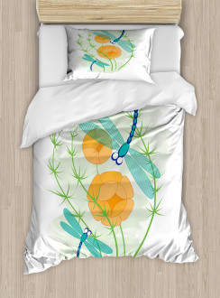 Colorful Nature Bugs Duvet Cover Set