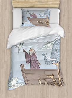 Old Man Receives Dove Duvet Cover Set