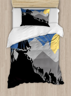 Pair of Creatures Ark Duvet Cover Set