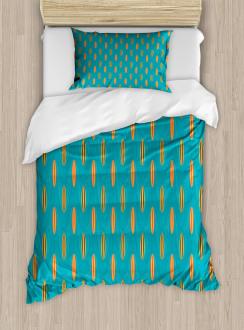 Wave Board Summer Pattern Duvet Cover Set