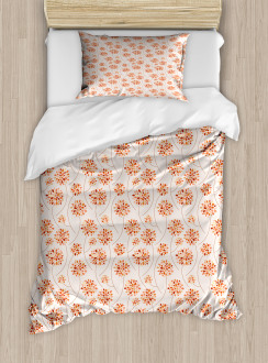 Abstract Flowers Pastel Duvet Cover Set