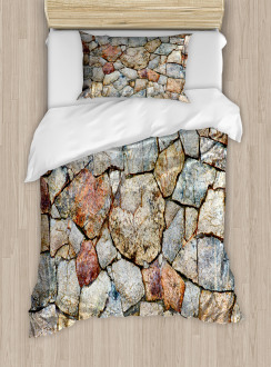 Rustic Natural Wall Duvet Cover Set