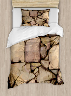 Cottage Stone Wall Duvet Cover Set