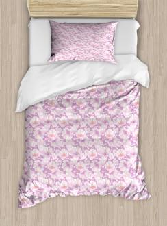 Pastel Flower Blooms Duvet Cover Set